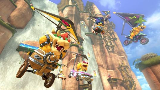 Image result for mario kart 8 screenshots tough guy mountain